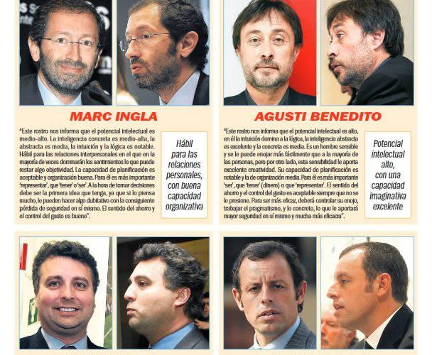 Artículo Sport - Elecciones Barça 2010 'Por su cara los conocerás'